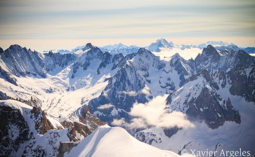 Depuis le sommet de l'Aiguille du Midi